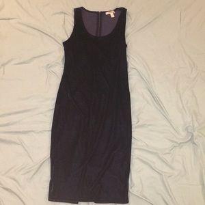 Violet velvet body con dress